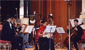 Liu Fang was performing 