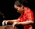 Liu Fang plays guzheng (Chinese zither)