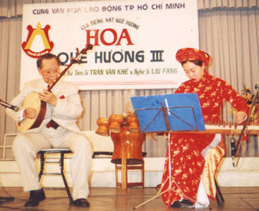 Tran Van Khe and Liu Fang on concert